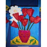 Preschoolers learn about Latin American art